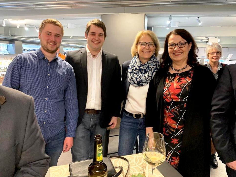 Show-Cooking in der Fackelmann Welt Hersbruck: Marc Stefes, Marco Schnellinger, Gudrun Zeltern und Irmgard Raum