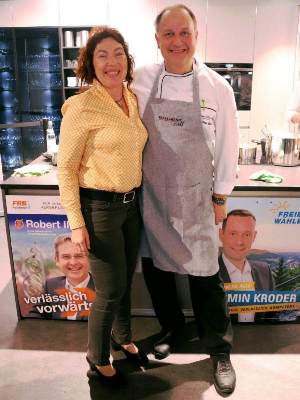 Show-Cooking in der Fackelmann Welt Hersbruck: Anita und Hans-Peter Eberhard