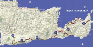 Freak Mountainbike Centre - Trans Crete tour map