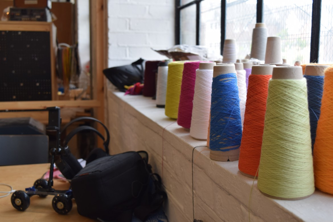 Supplies for Machines Room's knitting machine