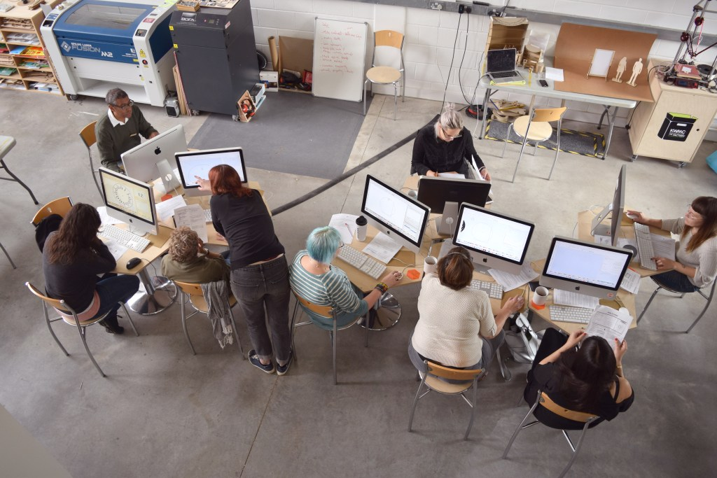 Digital fabrication workshop at The Factory