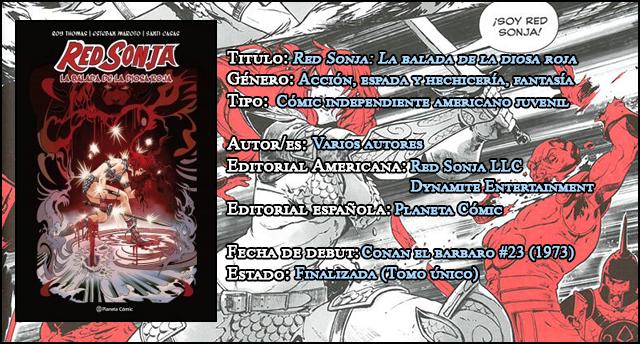Red Sonja, la balada de la diosa roja