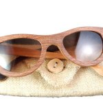 cherry wooden woman's sunglasses