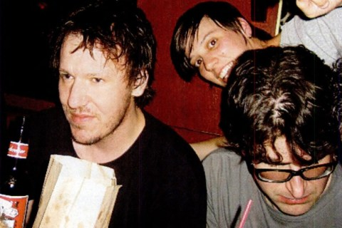 Elliott with his sister Ashley and Lou Barlow at his birthday party, August 2003.