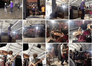 Dinosaur Jr video shoot at House of Vans