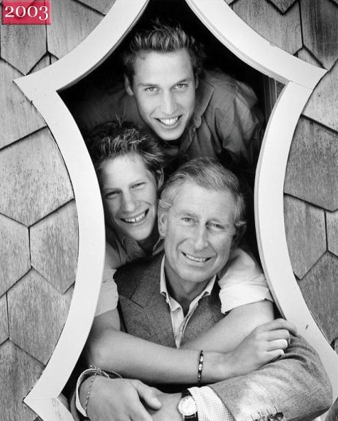 Mario Testino - Príncipes Charles, William e Harry - 2003