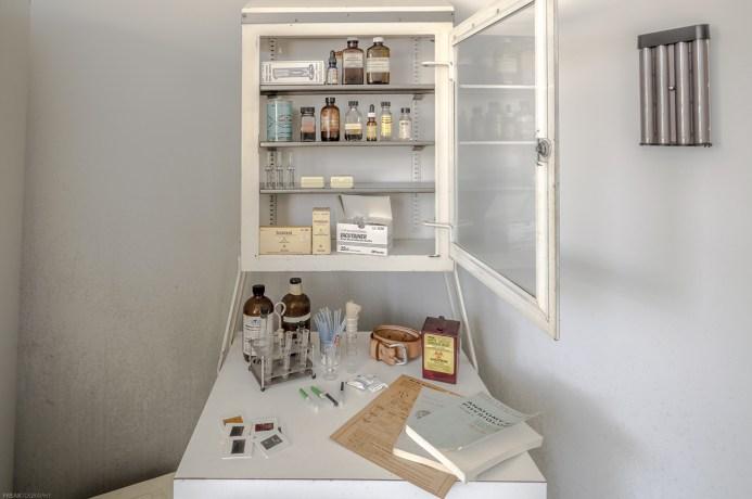abandoned medical supplies