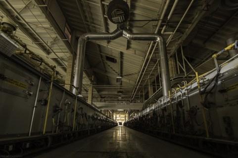 Vacant Factory at Night