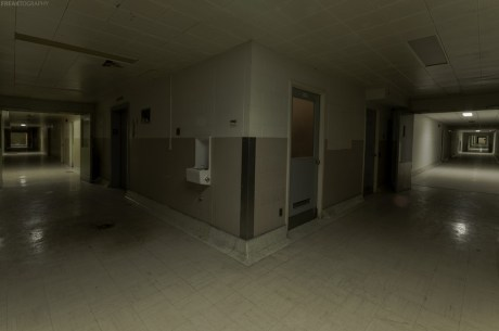The long basement level tunnels beneath a vacant psychiatric hospital in Ontario