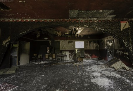 Inside a very unique abandoned house