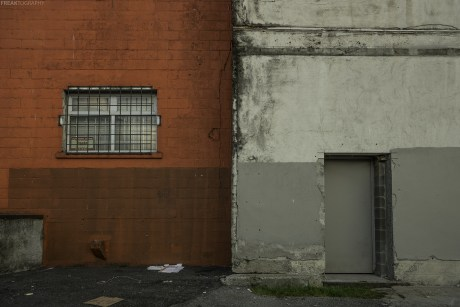 A back alley in an industrial area of Vancouver British Columbia.