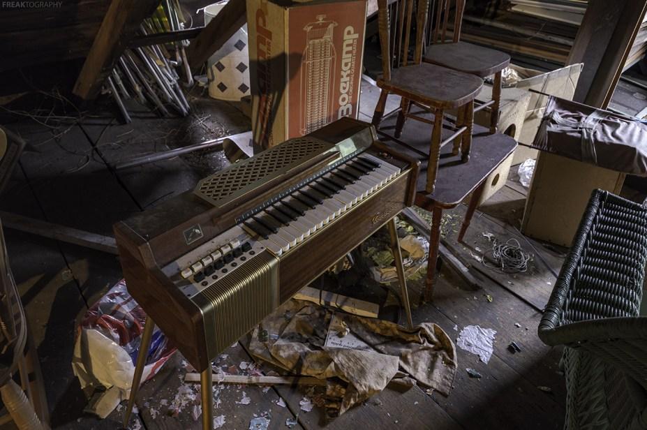 abandoned ontario house attic