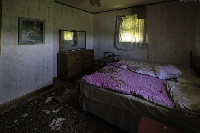 This abandoned house was in mostly great condition, this bedroom had the most damage.