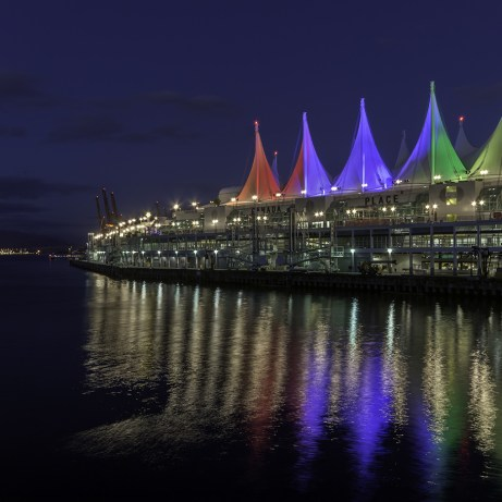 Canada Place in Vancouver British Columbia, at the waterfront in the heart of downtown Vancouver.
