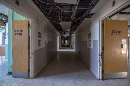 Freaktography, abandoned, abandoned hospital, abandoned hospital ontario, abandoned photography, abandoned places, corridor, creepy, decay, derelict, hallway, haunted, haunted places, photography, recovery room, urban exploration, urban exploration photography, urban explorer, urban exploring