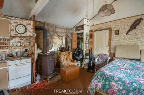 Bird Watching Abandoned Time Capsule Cabin