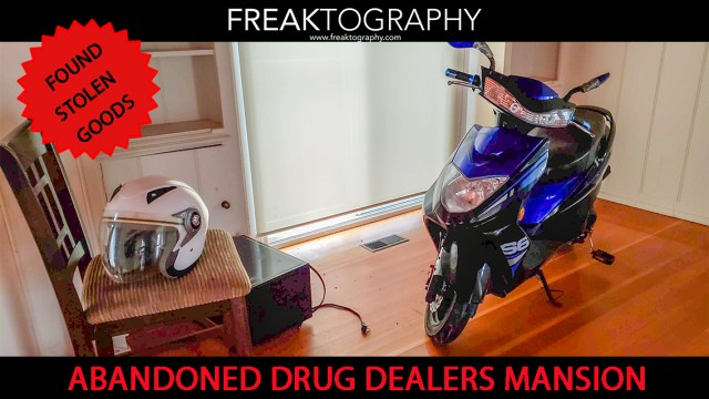 ABANDONED Drug Dealer's House with Unique Decor, Outdoor Pool and a Stolen Moped