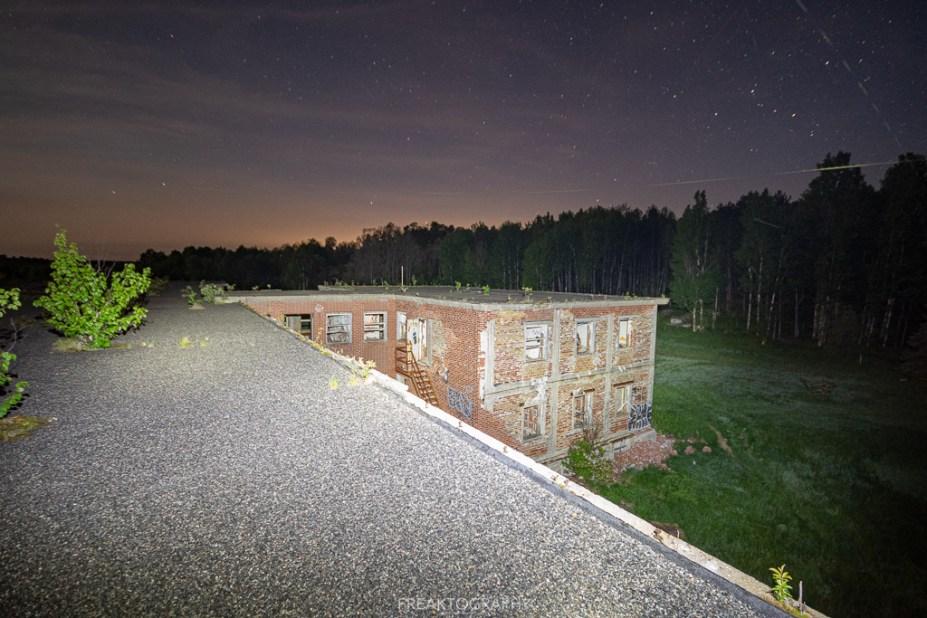 Abandoned Burwash Correctional Centre Camp bison Sleep over.