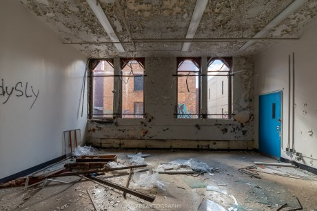 abandoned detroit cooley high school classroom