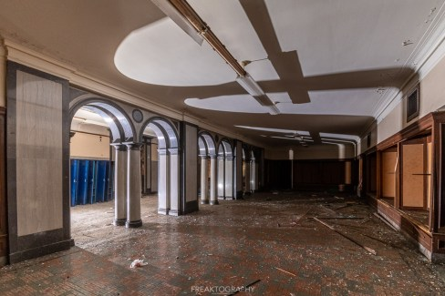 abandoned detroit cooley high school office