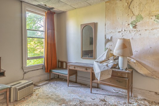 Abandoned Hotel Room and Window