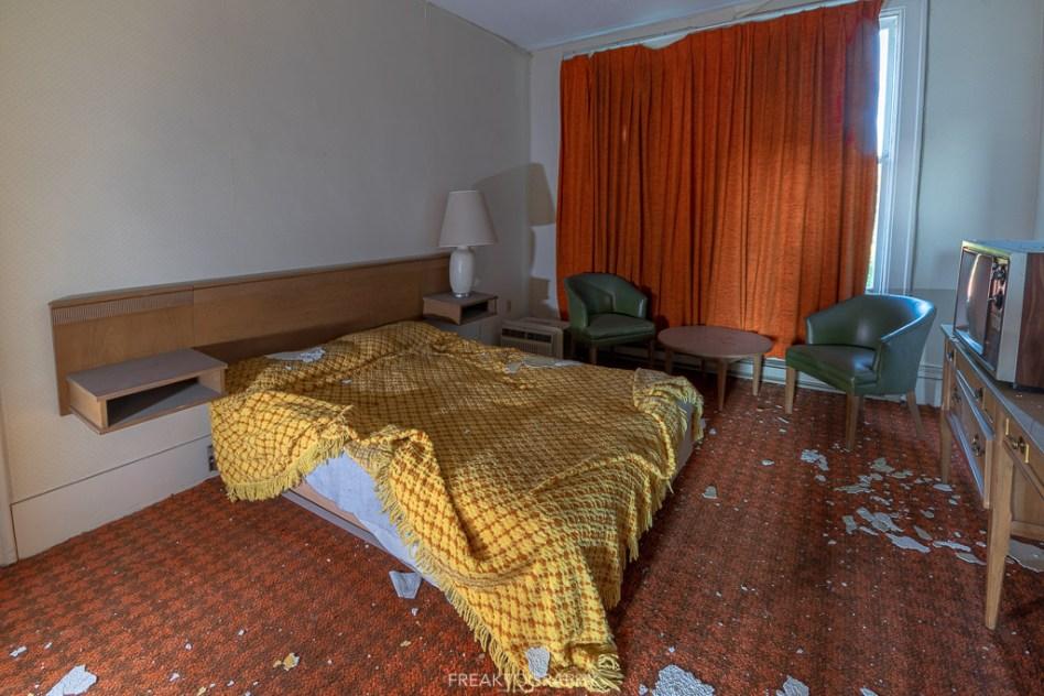 Abandoned Hotel Room Set Up.