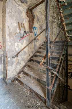 Abandoned Rochester Psychiatric Decaying Stairwell
