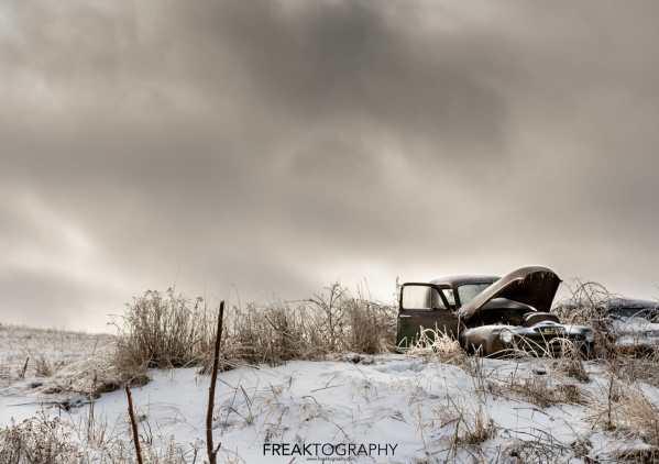 Old GMC Truck Winter Scene