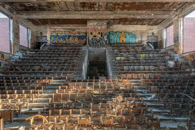 horace mann abandoned high school auditorium gary indiana