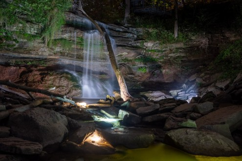 smokey hollow waterfall