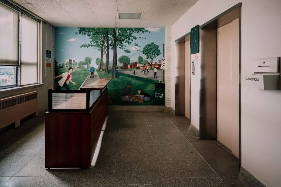 abandoned cgedoke childrens hospital painting