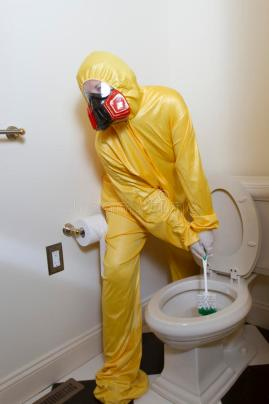 germy-smelly-toilet-cleaning-woman-dressed-yellow-haz-mat-uniform-ventilator-bathroom-scrub-brush-65687910
