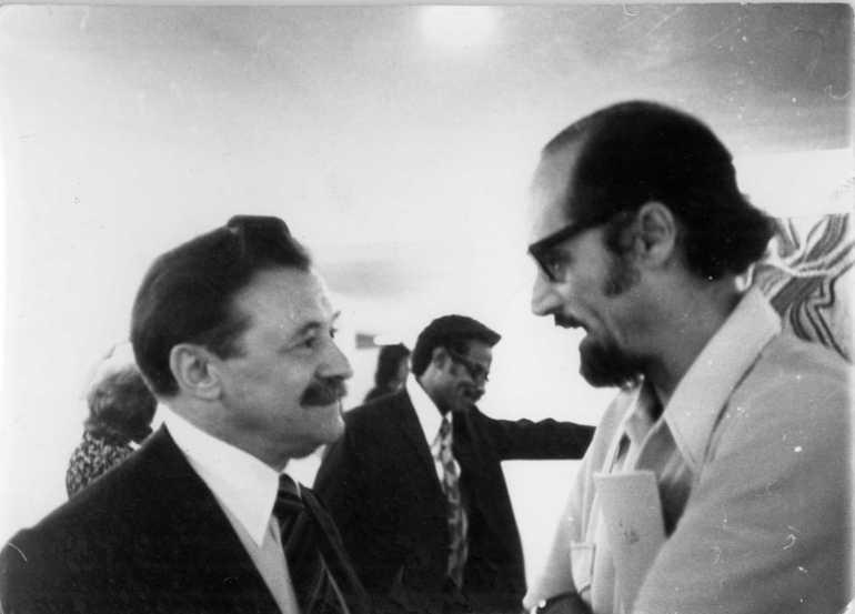 Με τον Mario Benedetti.