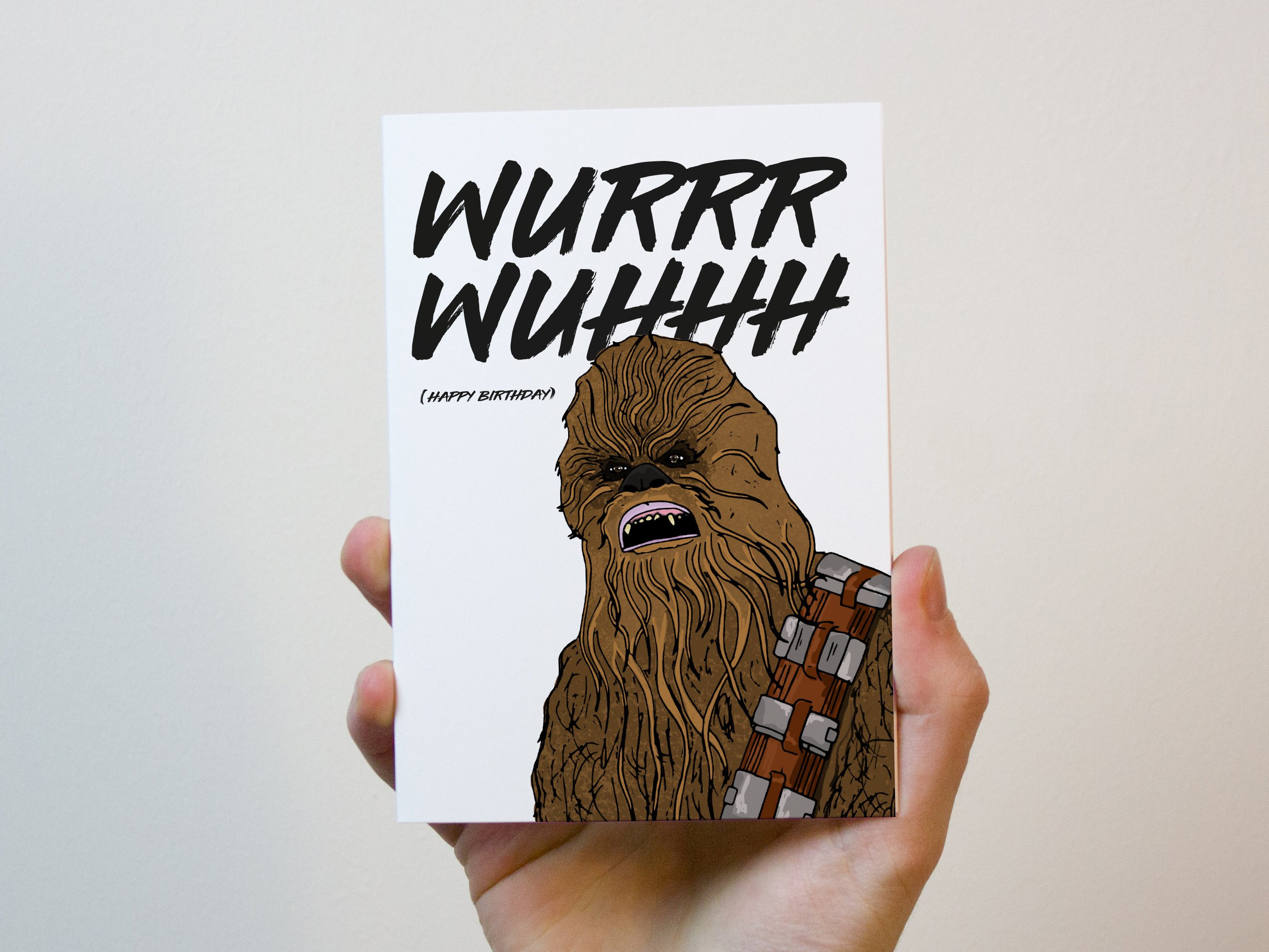Chewbacca Birthday Card Star Wars Birthday Card