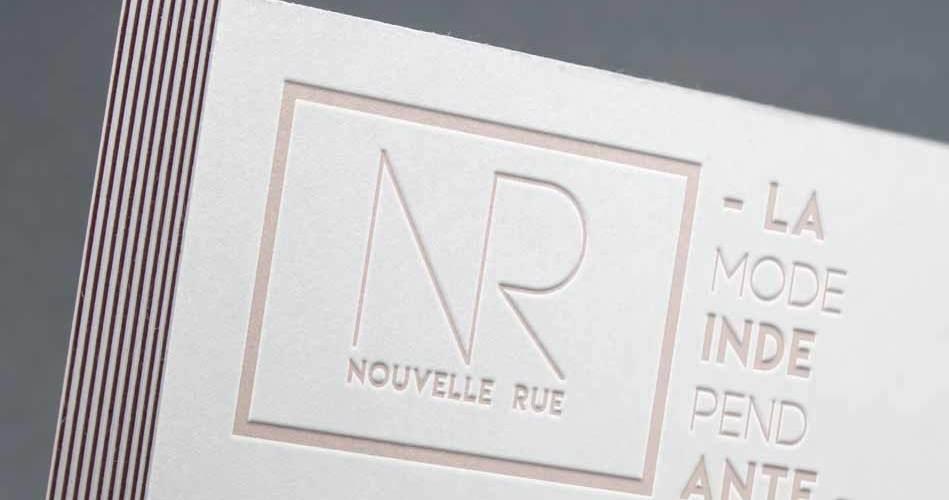Création logo charte Graphique Nouvelle Rue, la mode indépendante lyon