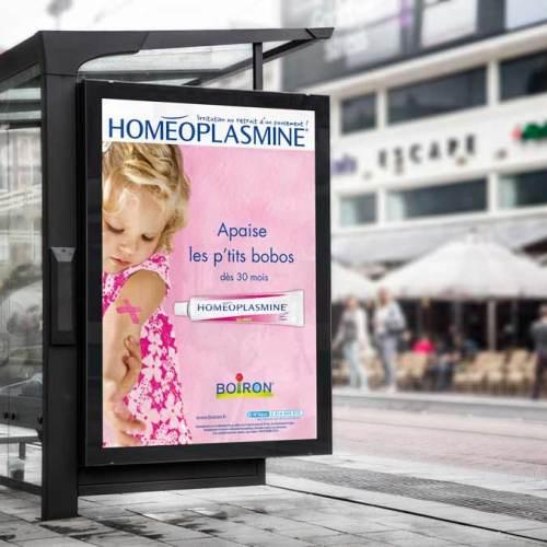 Création graphique d'une publicité magazine pour Boiron Lyon