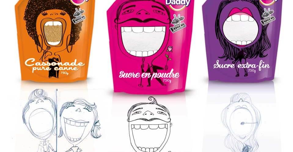 Freckles Design, direction artistique et packaging à Lyon pour Daddy