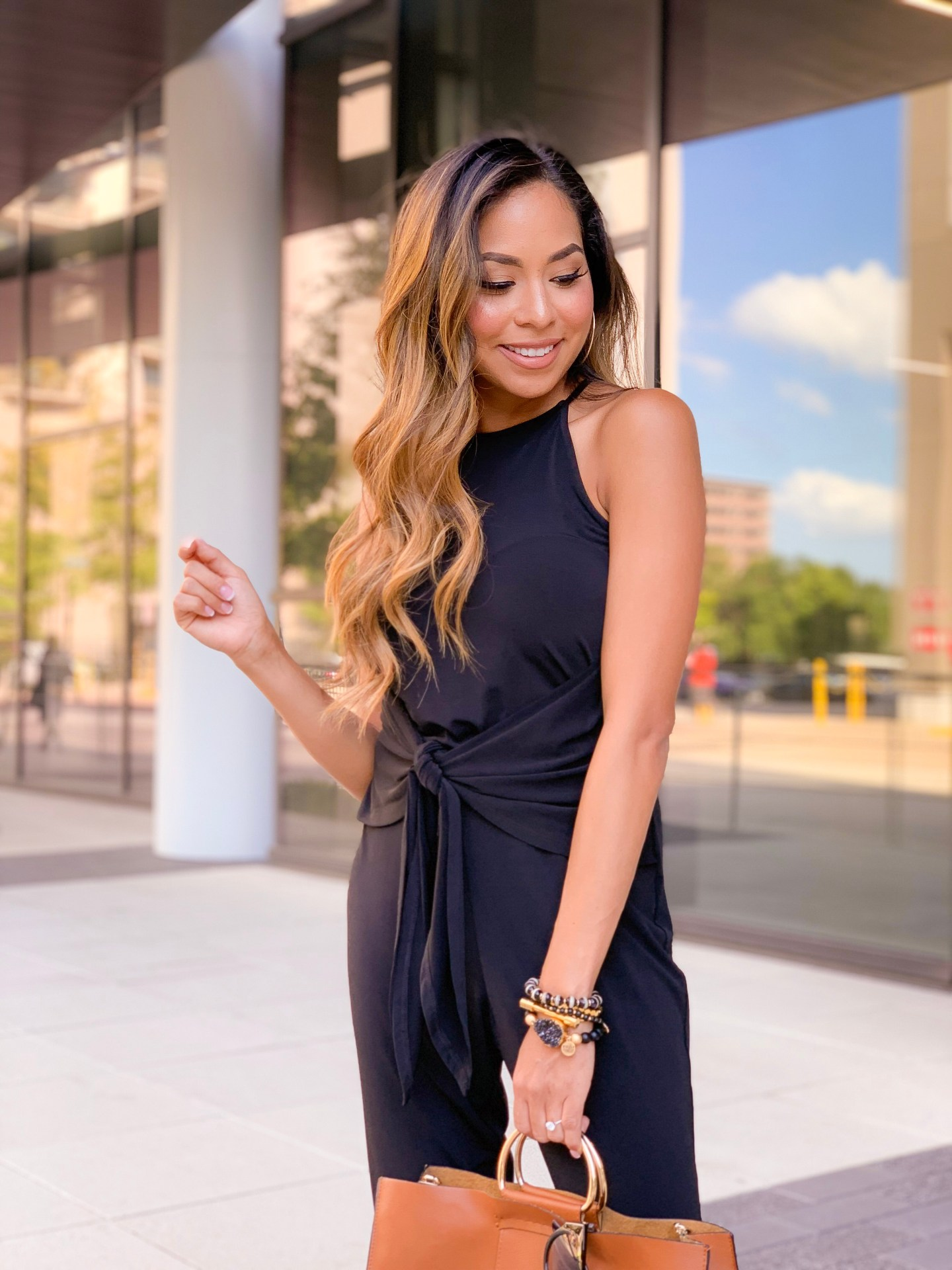All black jumpsuit