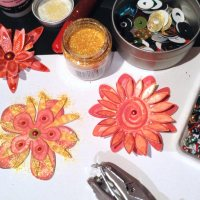 Colorful diy paper flowers - print - cut - enjoy