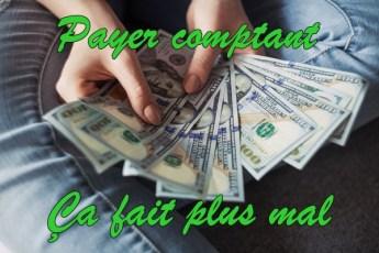 Payer comptant fait plus mal que la carte de crédit