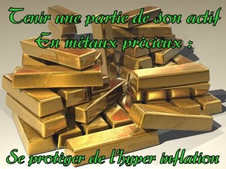 se protéger de l'inflation - la valeur de l'or