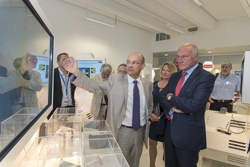 reportage visite président de région Alain Rousset