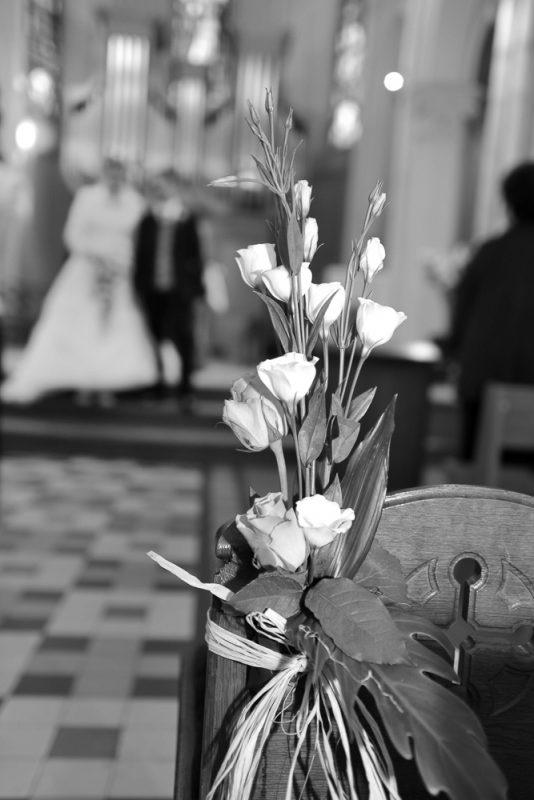 photo de mariage dans l'église