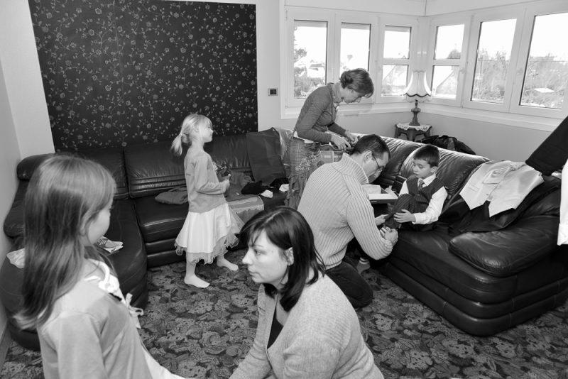 photo avant le mariage lors des préparatifs