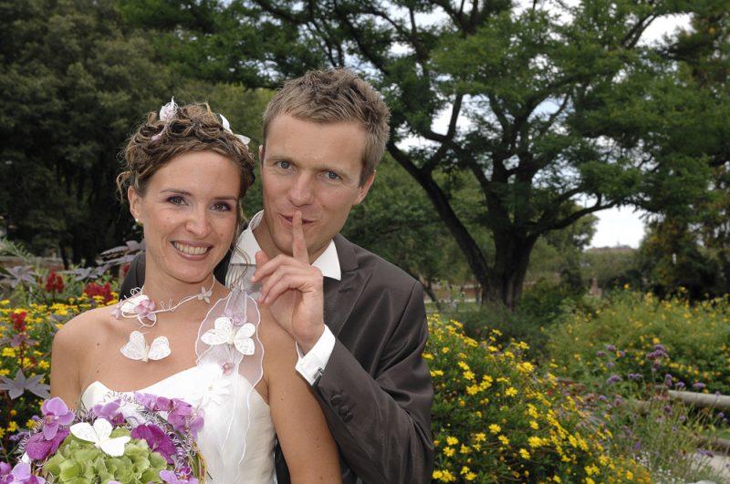 photo de couple des mariés