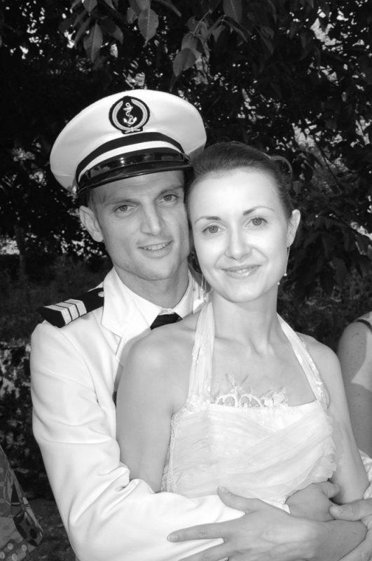portrait des mariés marins