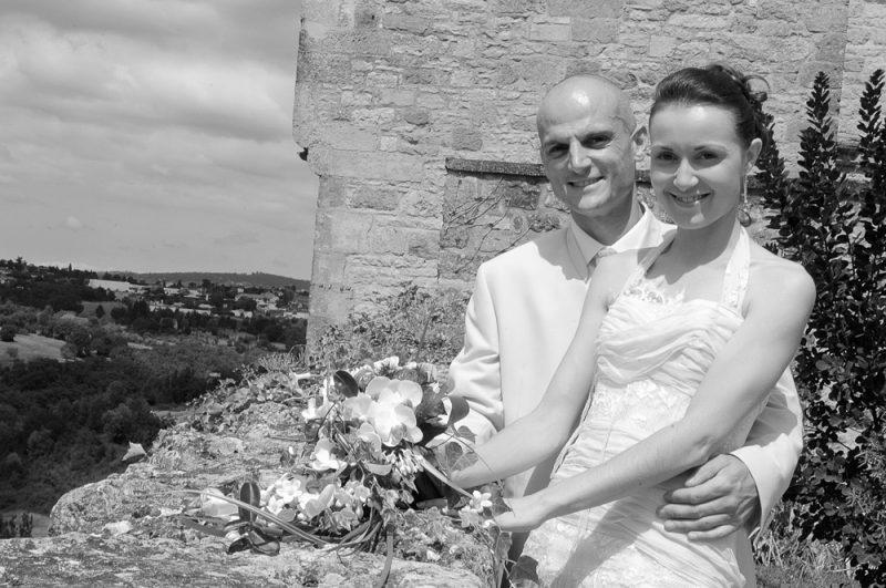 photographe photo mariage noir et blanc Marmande