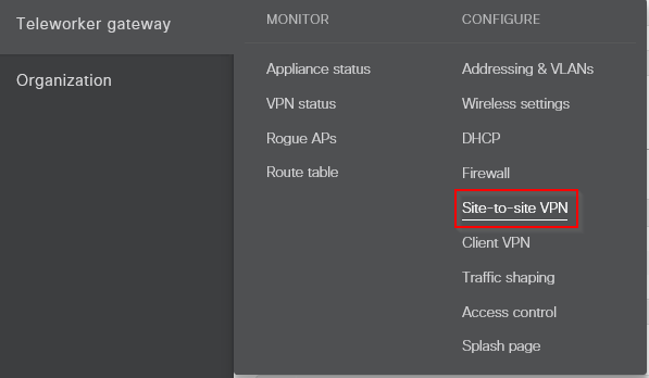 meraki-network-vpn-select