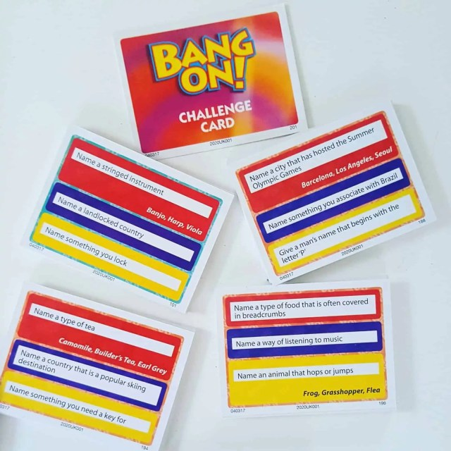 Bang on Question Cards