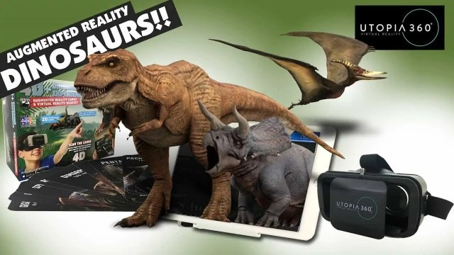 4D+ Utopia 360° Dinosaur Experience Augmented Reality Cards & VR Headset